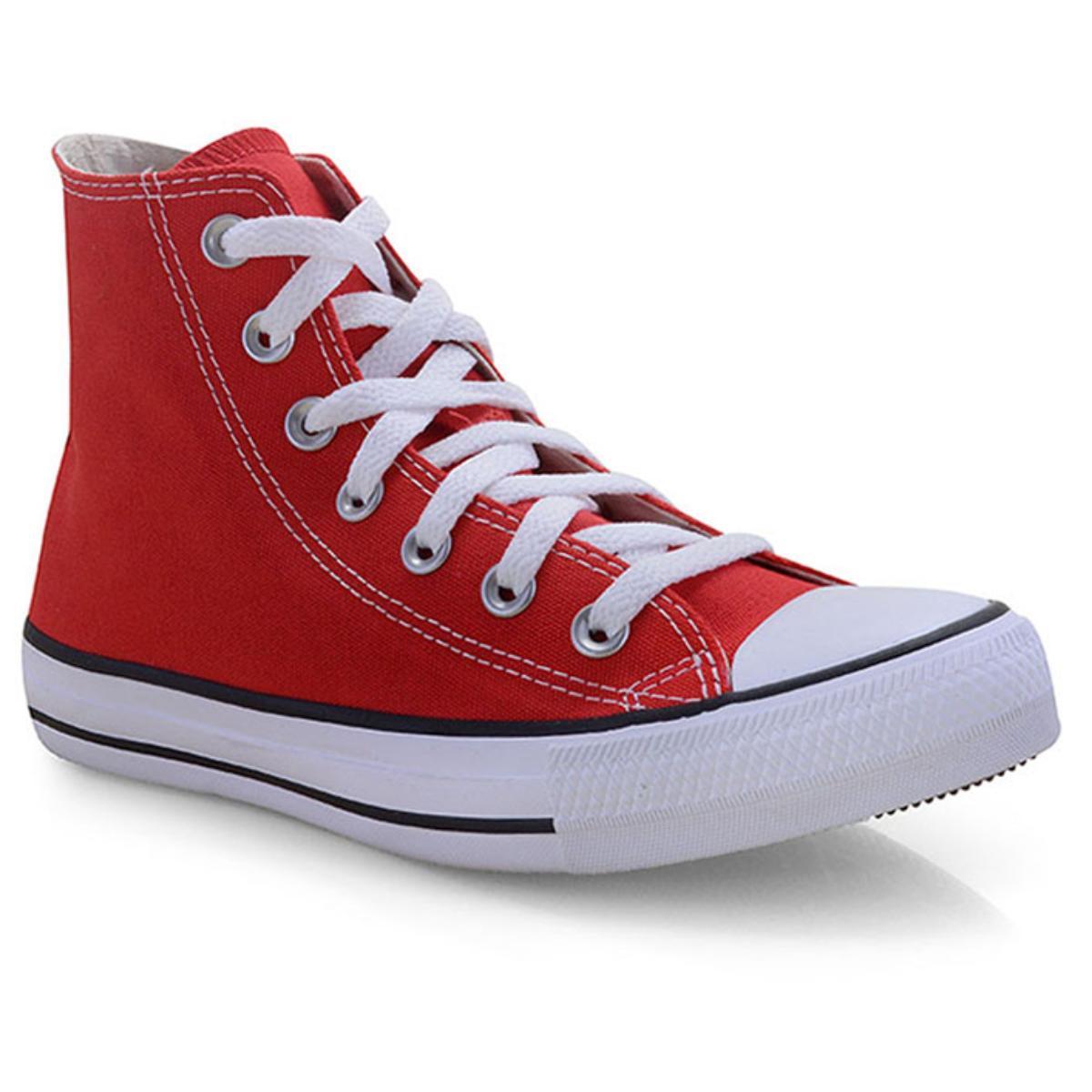 Tênis Unisex All Star Ct00040004 Vermelho/cru/preto