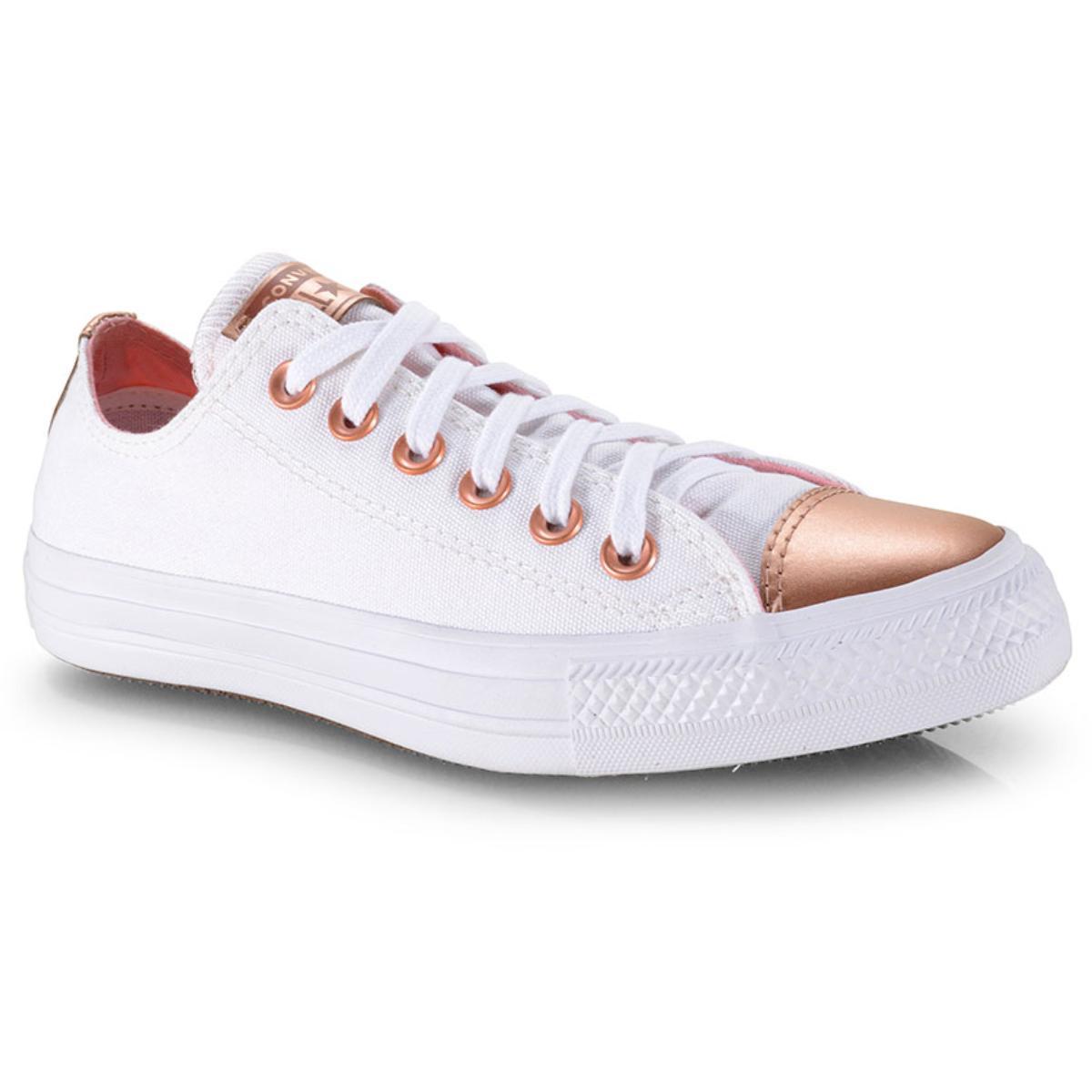 Tênis Feminino All Star Ct12650002 Branco/ouro