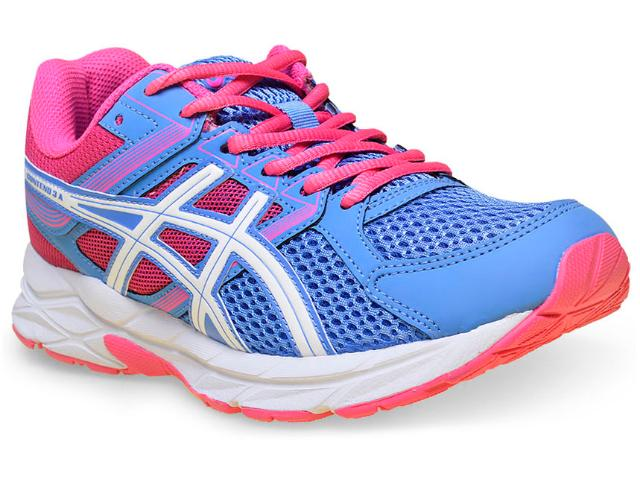 Tênis Feminino Asics T058a.4701 Gel Contend 3 Azul/rosa