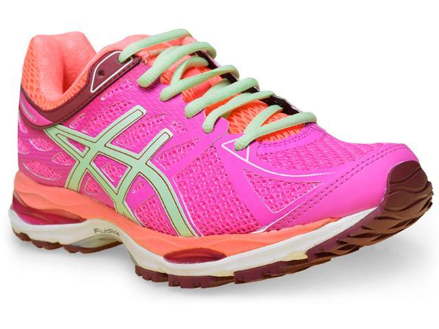 Tênis Feminino Asics T5d8n.3587 Gel Cumulus 17 Pink/coral/verde