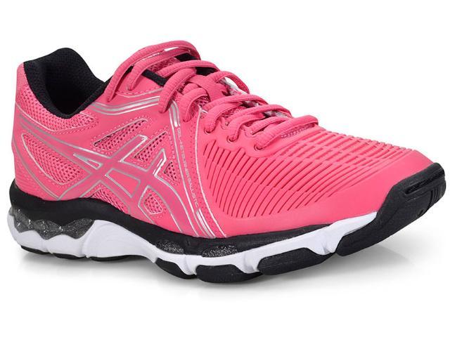 Tênis Feminino Asics B557y.2093 Gel Netburner Ballistic Pink/preto/branco