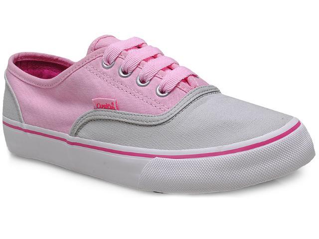 Tênis Feminino Capricho Cp0239 Cinza/rosa