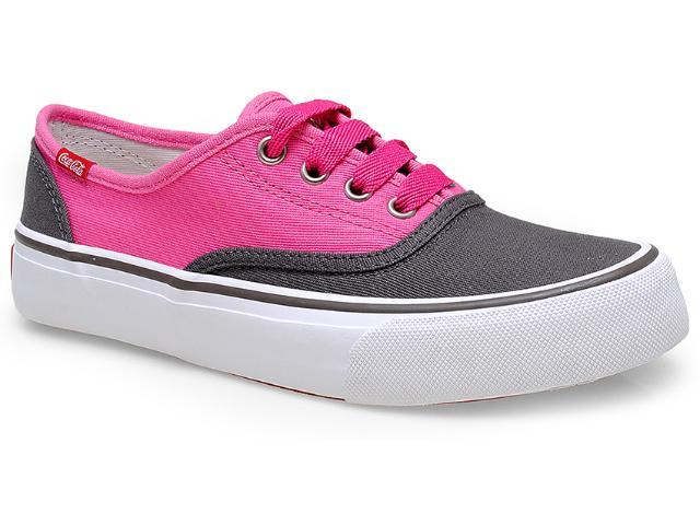 Tênis Feminino Coca-cola Shoes Cc0608 Grafite/pink