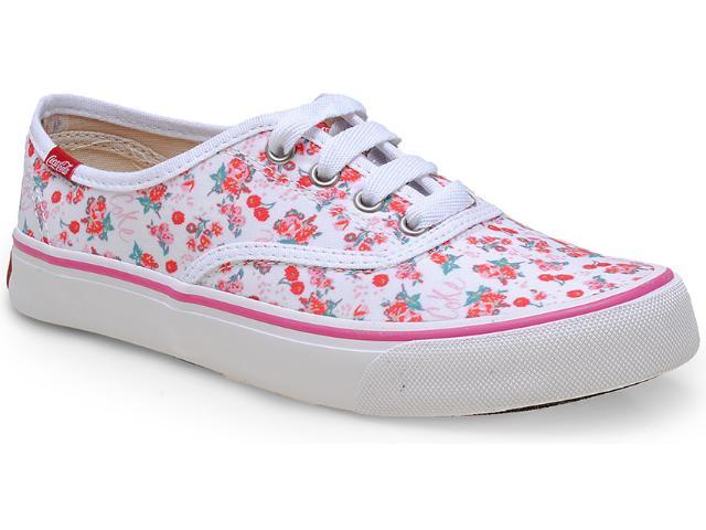 Tênis Feminino Coca-cola Shoes Cc0711 Branco
