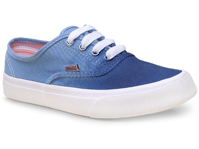 Tênis Feminino Coca-cola Shoes Cc0762 Denim/petróleo