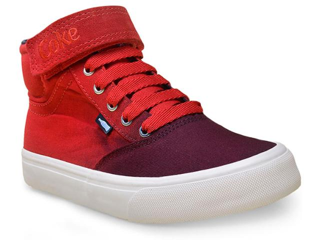 Tênis Feminino Coca-cola Shoes Cc0882 Vermelho/petróleo