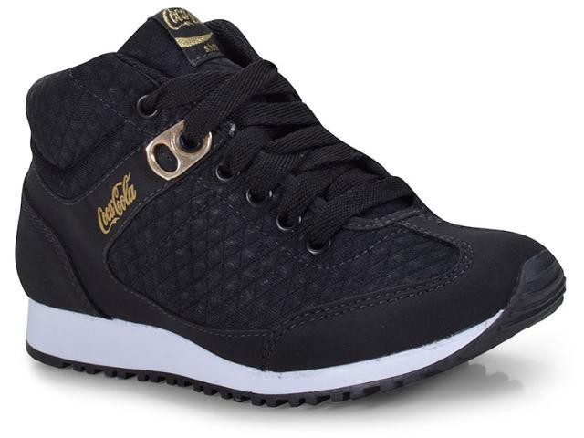 Tênis Feminino Coca-cola Shoes Cc1406 Preto