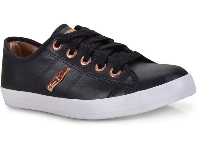 Tênis Feminino Coca-cola Shoes Cc0873 Preto/cobre
