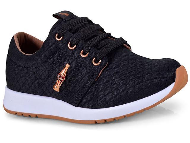 Tênis Feminino Coca-cola Shoes Cc1441 Preto/cobre