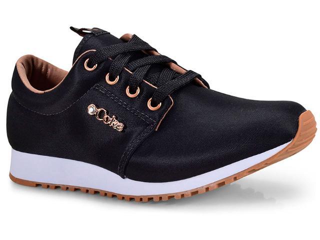 Tênis Feminino Coca-cola Shoes Cc1432 Preto/cobre