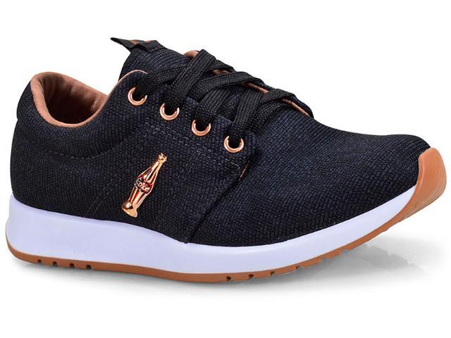 Tênis Feminino Coca-cola Shoes Cc1478 Preto