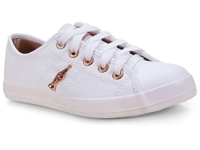 Tênis Feminino Coca-cola Shoes Cc0873 Branco/cobre