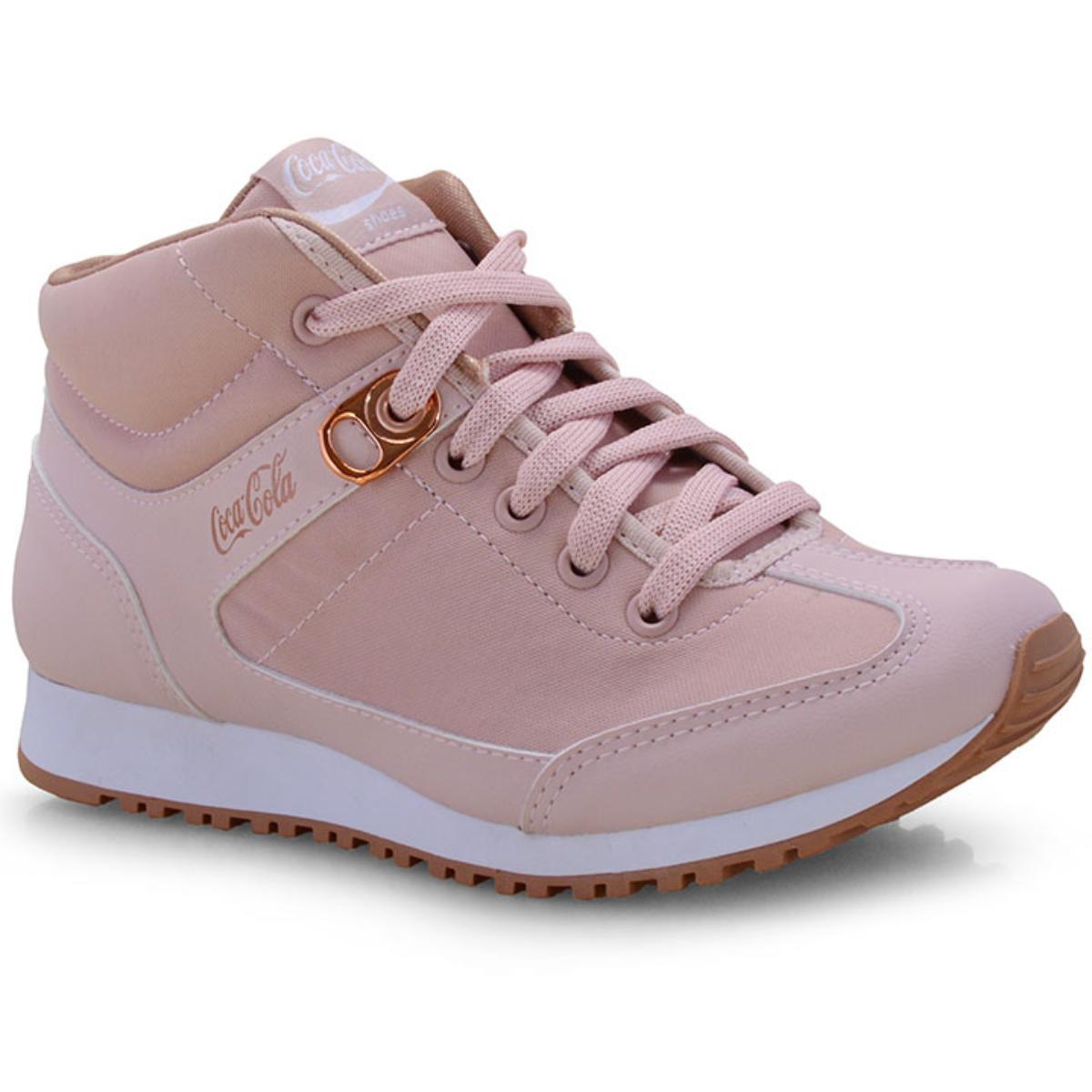 Tênis Feminino Coca-cola Shoes Cc1494 Rose/cobre