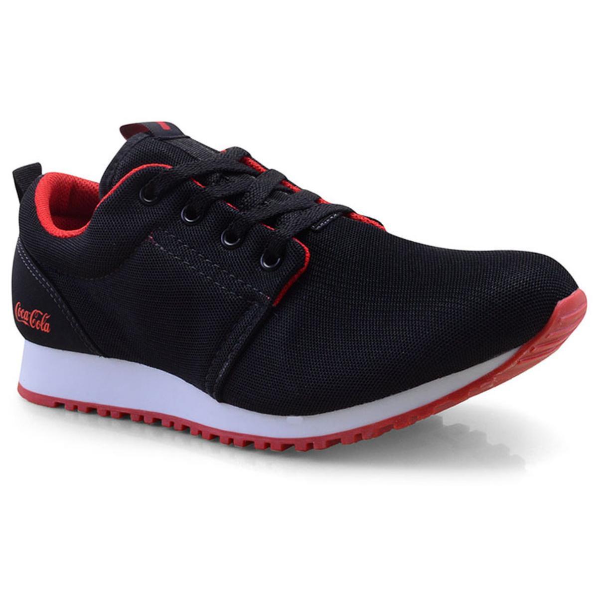 Tênis Masculino Coca-cola Shoes Cc1152 Preto/vermelho