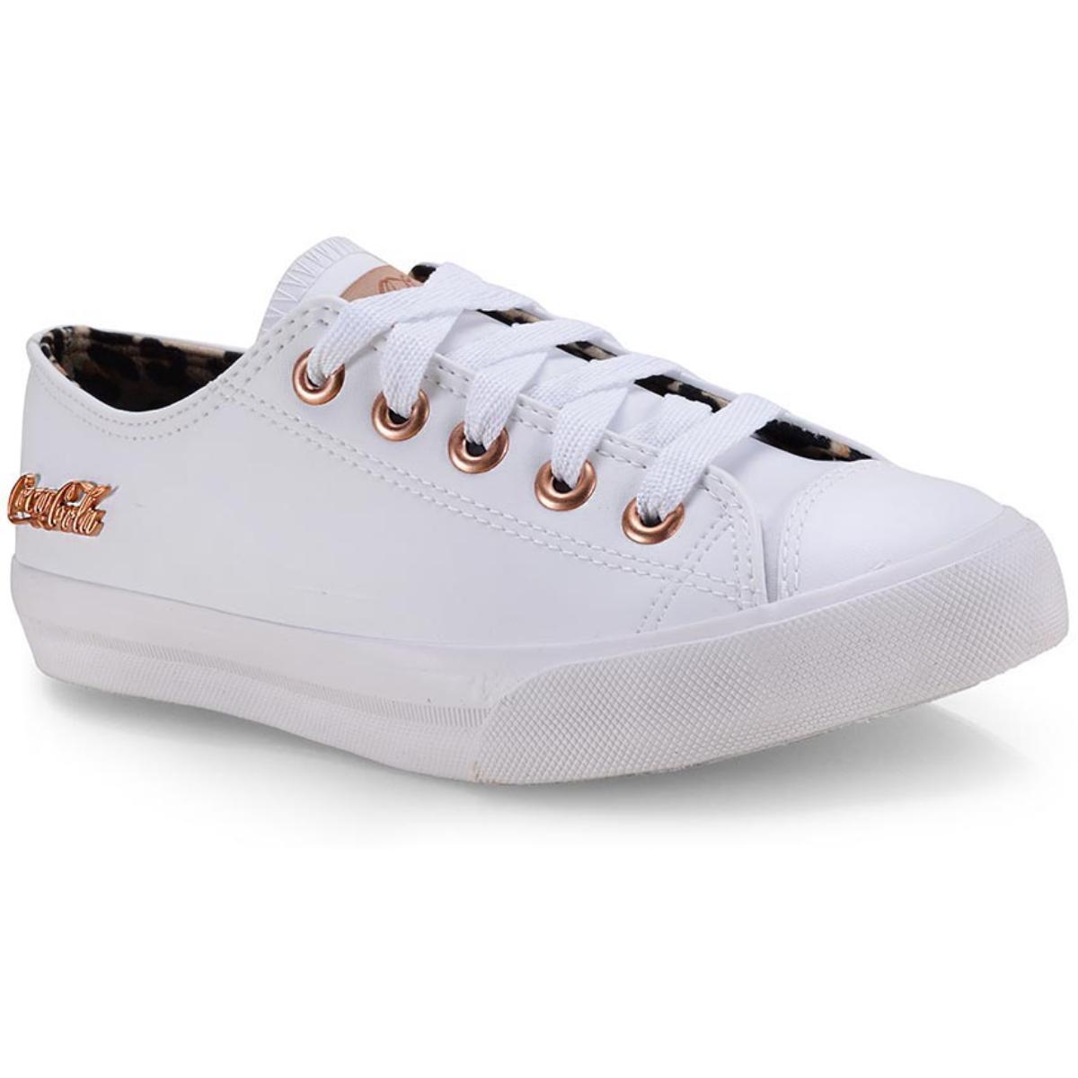 Tênis Feminino Coca-cola Shoes Cc1614 Branco/caramelo
