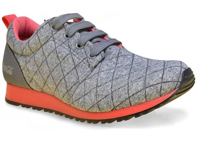 Tênis Feminino Coca-cola Shoes Cc1016 Cinza/coral
