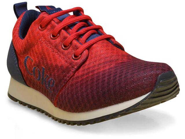 Tênis Feminino Coca-cola Shoes Cc1165 Vermelho/petróleo
