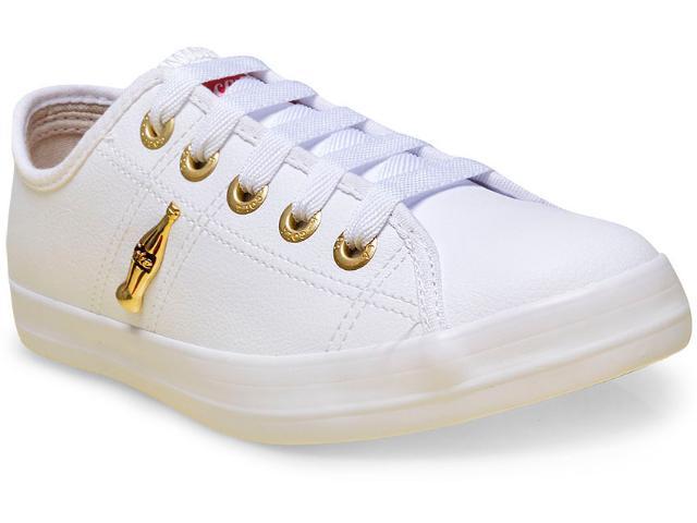 Tênis Feminino Coca-cola Shoes Cc0873 Branco/dourado