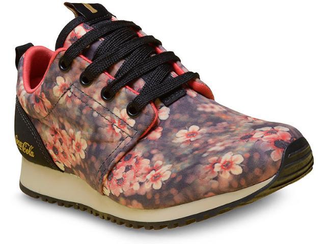 Tênis Feminino Coca-cola Shoes Cc1246 Print Coral