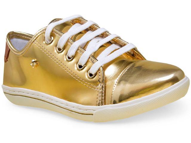 Tênis Feminino Cravo e Canela 147604/5 Ouro