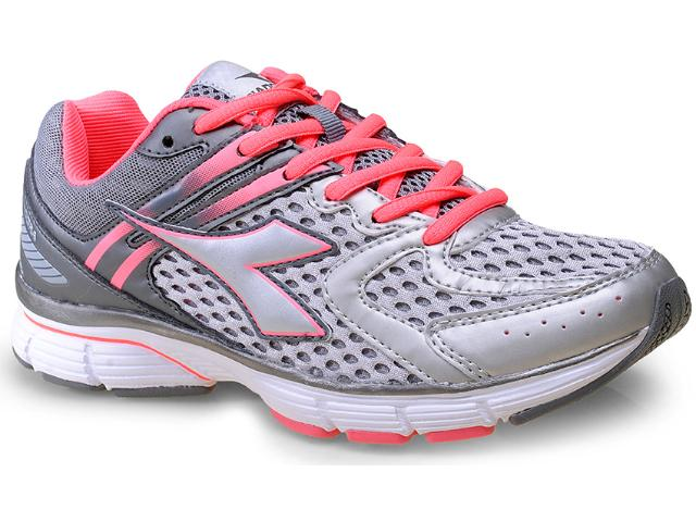 Tênis Feminino Diadora 125115 Inspire 0441 Cinza/rosa Neon