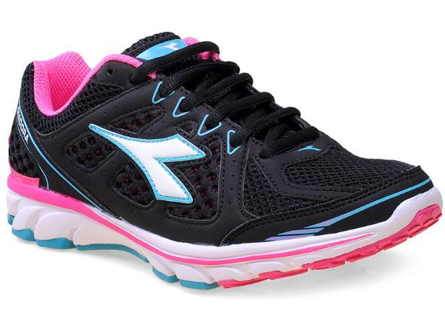 Tênis Feminino Diadora 125502 Power Preto/pink