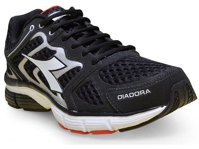 Tênis Masculino Diadora 125700 New Stratus C0123 Preto/prata