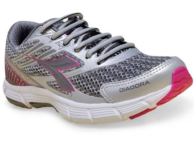 Tênis Feminino Diadora 125510 Speed C3329 Prata/pink