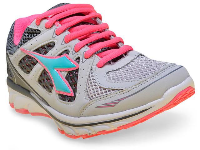 Tênis Feminino Diadora 125502 C3329 Power Prata/rosa