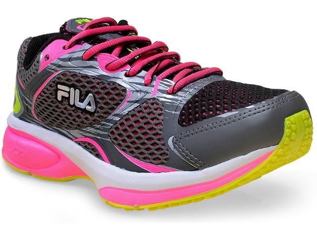 Tênis Feminino Fila 51j437x Flow 2.0 w Preto/rosa Neon/limão