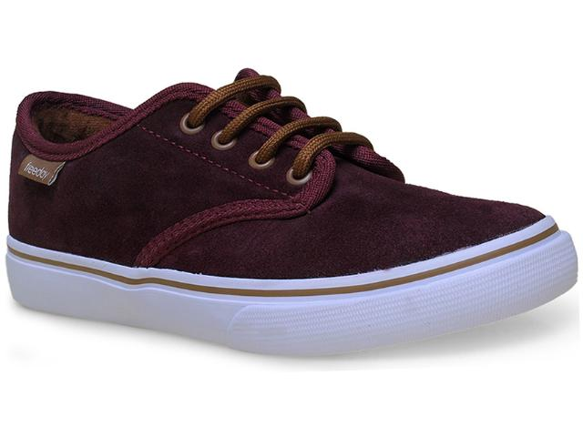 Tênis Feminino Free Day 90210 For Star Bordo/branco/ocre