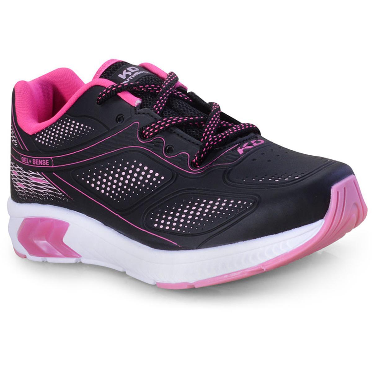 Tênis Fem Infantil Kidy 04510213858 Preto/pink/rosa