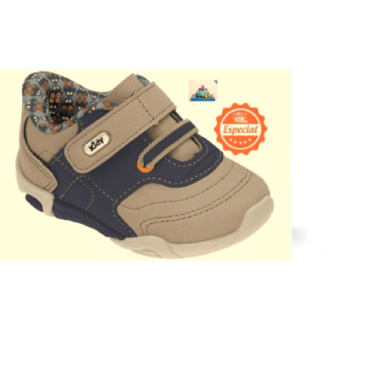 Tênis Masc Infantil Kidy 00804808977 Taupe/azul