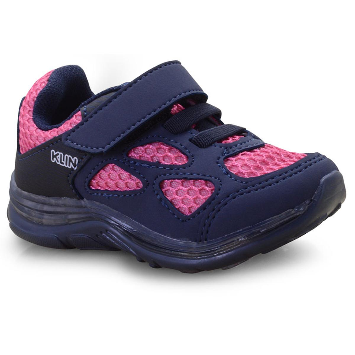Tênis Fem Infantil Klin 989.010 Marinho/pink