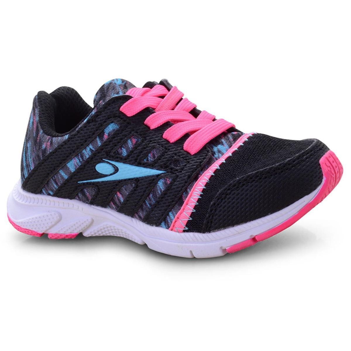 Tênis Fem Infantil Klin 143.024 Preto/pink