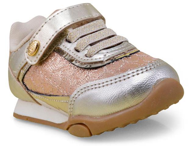 Tênis Fem Infantil Klin 756.037 Dourado