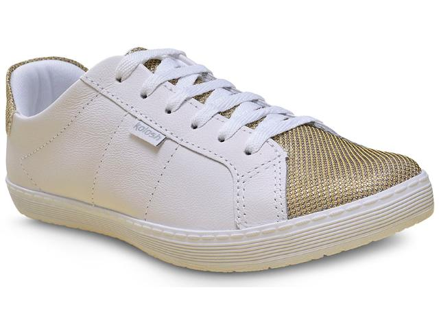 Tênis Feminino Kolosh C0649 Branco/dourado