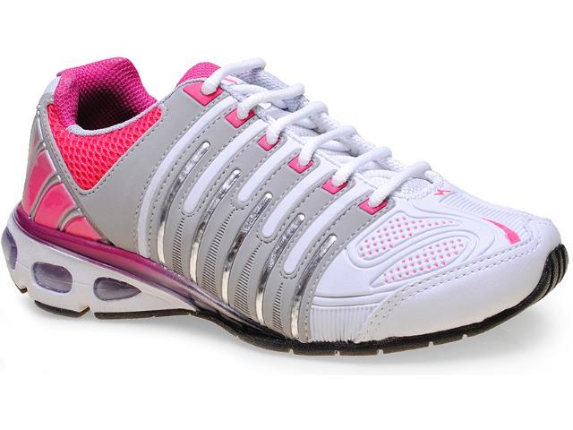 Tênis Feminino Nesk 8507 Branco/cinza/pink