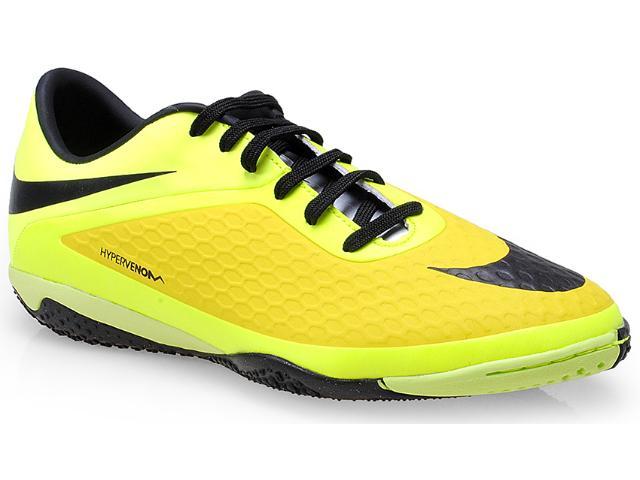 Tênis Masculino Nike 599849-700 Hypervenom Phelon ic Limão/amarelo/preto