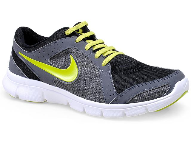 Tênis Masculino Nike 599542-027 Flex Experience rn Preto/grafite/limão
