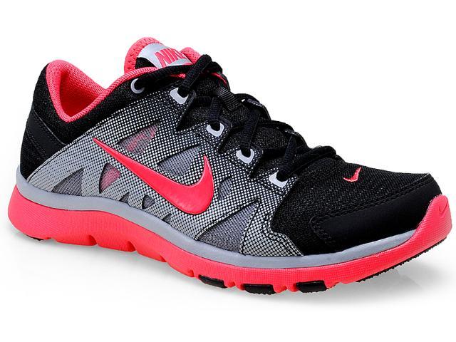 Tênis Feminino Nike 616694-009 Flex Supreme tr 2 Preto/cinza/coral