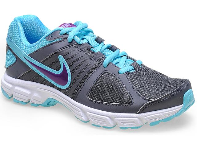 Tênis Feminino Nike 537572-029 Downshifter 5 Msl Chumbo/azul