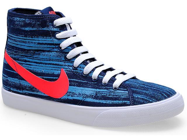 Tênis Masculino Nike 629573-461 Primo Court Mid Marinho/azul/branco