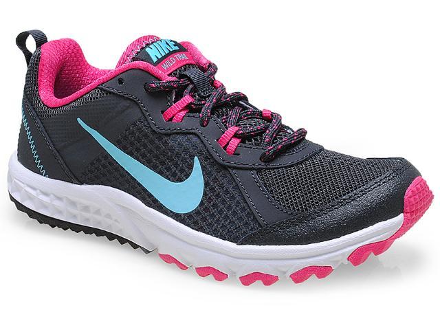 Tênis Feminino Nike 643074-001  Wild Trail Chumbo/pink/branco