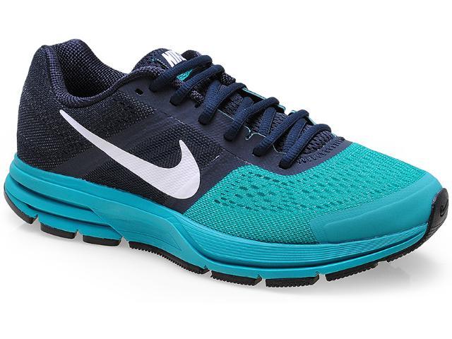 Tênis Masculino Nike 599205-401 Air Pegasus+ 30 Marinho/verde Agua