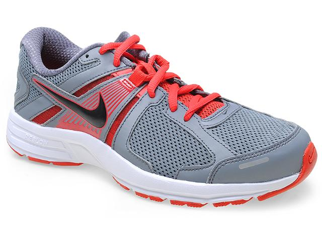 Tênis Masculino Nike 580527-022 Dart 10 Msl Cinza/vermelho