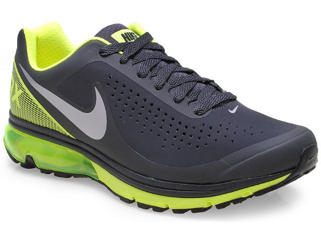 Tênis Masculino Nike 633024-022 Air Max Supreme 2 Preto/chumbo/verde Limão