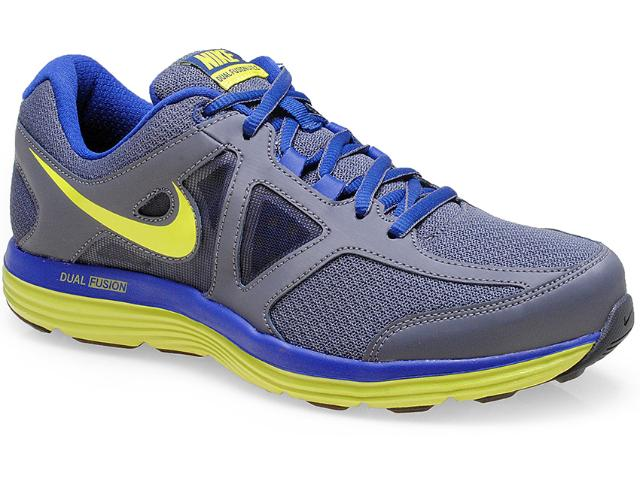 Tênis Masculino Nike 642821-002 Dual Fusion Lite 2 Msl Chumbo/marinho/limão