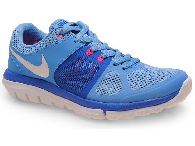 Tênis Feminino Nike 642780-401 Flex 2014 rn Msl Azul Celeste
