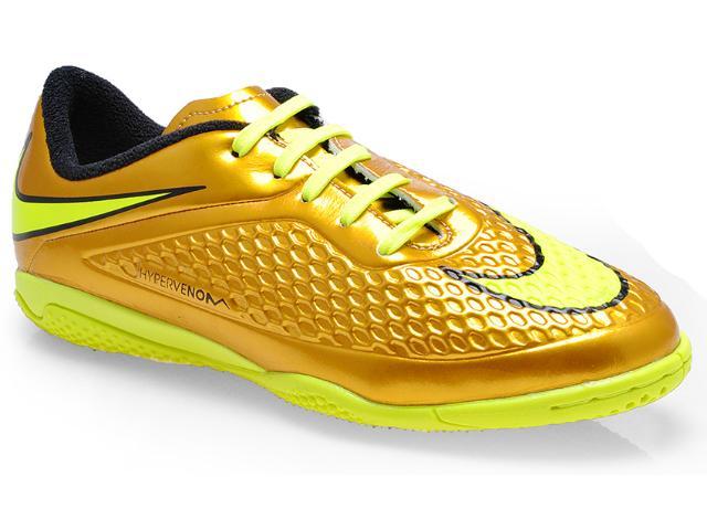Tênis Masc Infantil Nike 677590-907 jr Hypervenom Phelon Prem ic Ouro/limão